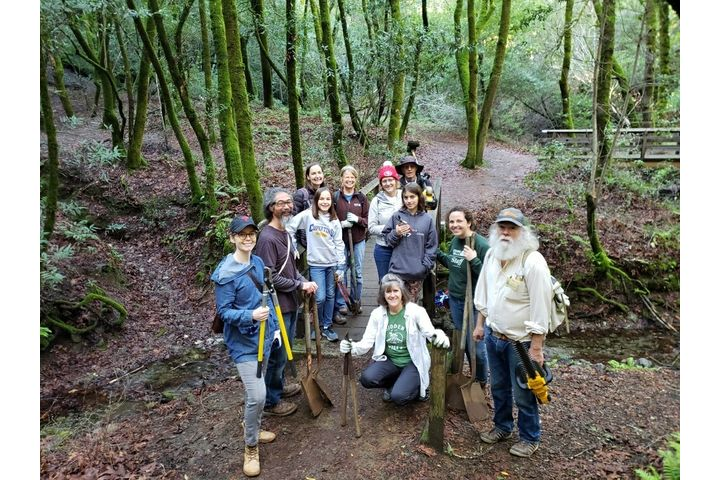 Group of Volunteers with Tools